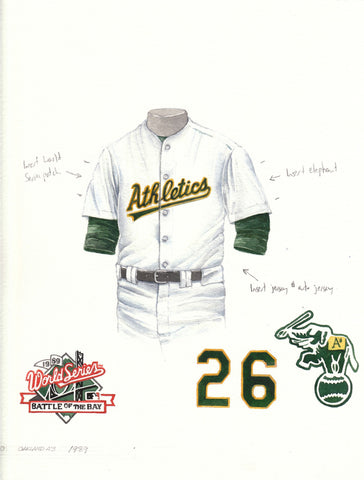 Oakland Athletics 1989 - Heritage Sports Art - original watercolor artwork - 1