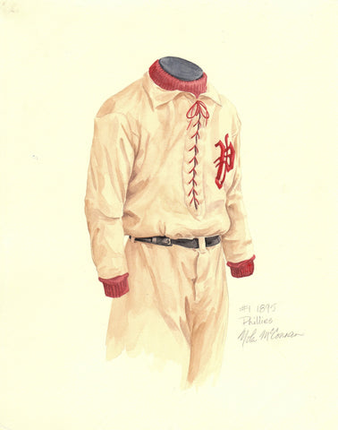 Philadelphia Phillies 1895 - Heritage Sports Art - original watercolor artwork - 1