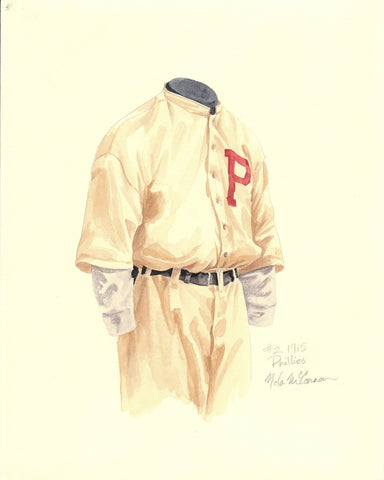 Philadelphia Phillies 1915 - Heritage Sports Art - original watercolor artwork - 1
