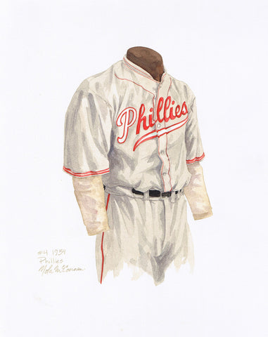 Philadelphia Phillies 1934 - Heritage Sports Art - original watercolor artwork - 1