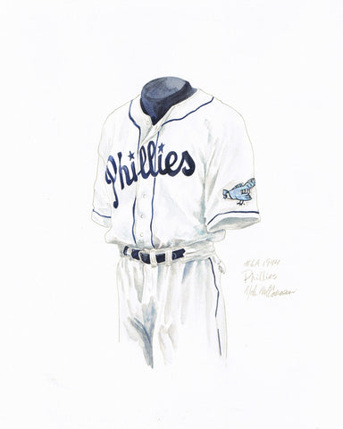 Philadelphia Phillies 1944 - Heritage Sports Art - original watercolor artwork - 1