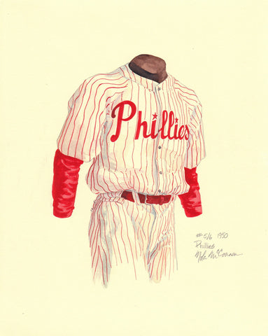 Philadelphia Phillies 1950 - Heritage Sports Art - original watercolor artwork - 1