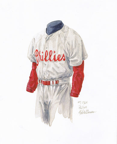 Philadelphia Phillies 1964 - Heritage Sports Art - original watercolor artwork - 1