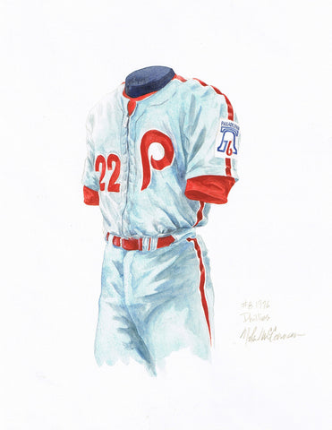 Philadelphia Phillies 1976 - Heritage Sports Art - original watercolor artwork - 1