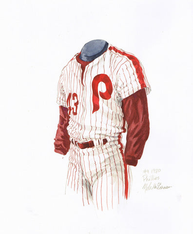 Philadelphia Phillies 1980 - Heritage Sports Art - original watercolor artwork - 1