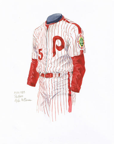 Philadelphia Phillies 1983 - Heritage Sports Art - original watercolor artwork - 1
