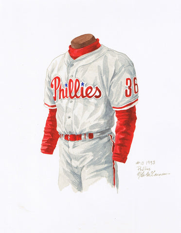 Philadelphia Phillies 1993 - Heritage Sports Art - original watercolor artwork - 1