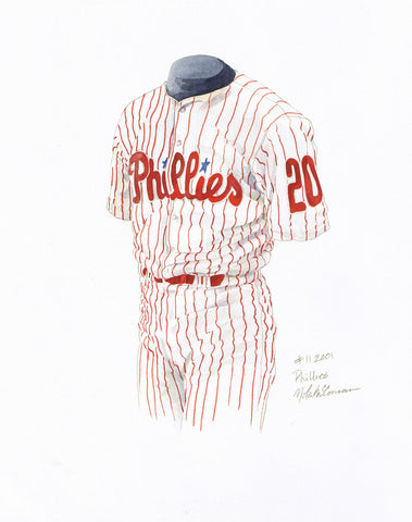 Philadelphia Phillies 2001 - Heritage Sports Art - original watercolor artwork - 1