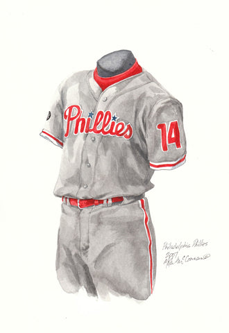 Philadelphia Phillies 2007 - Heritage Sports Art - original watercolor artwork - 1