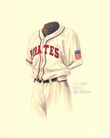 Pittsburgh Pirates 1942 - Heritage Sports Art - original watercolor artwork - 1