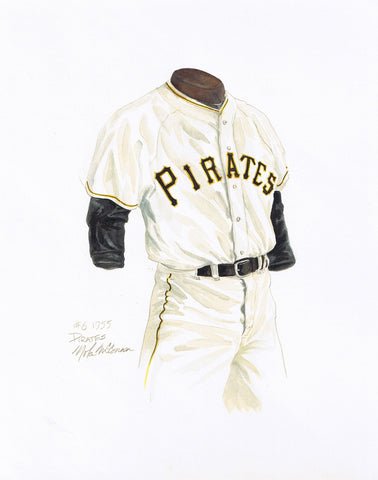 Pittsburgh Pirates 1955 - Heritage Sports Art - original watercolor artwork - 1