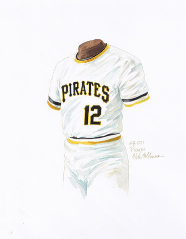 Pittsburgh Pirates 1971 - Heritage Sports Art - original watercolor artwork - 1