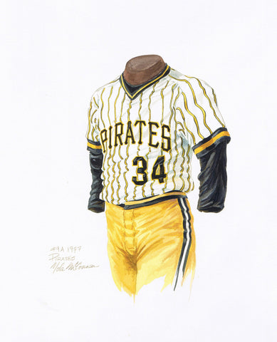 Pittsburgh Pirates 1977 - Heritage Sports Art - original watercolor artwork - 1
