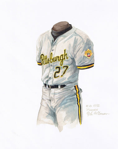 Pittsburgh Pirates 1992 - Heritage Sports Art - original watercolor artwork - 1