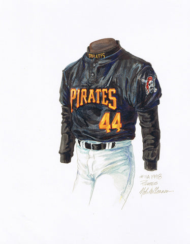 Pittsburgh Pirates 1998 - Heritage Sports Art - original watercolor artwork - 1