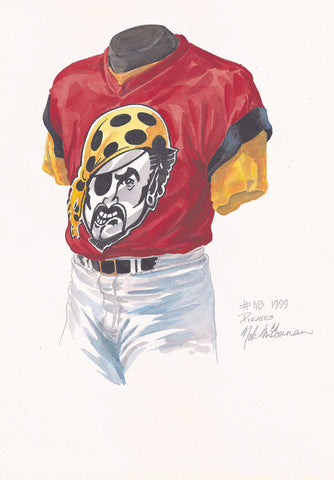 Pittsburgh Pirates 1999 - Heritage Sports Art - original watercolor artwork - 1
