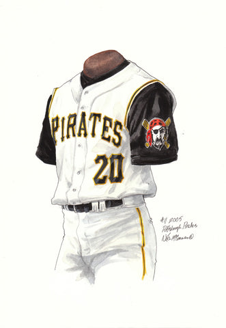 Pittsburgh Pirates 2005 - Heritage Sports Art - original watercolor artwork - 1