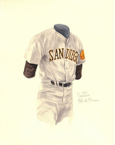 San Diego Padres 1969 - Heritage Sports Art - original watercolor artwork - 1