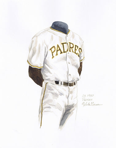 San Diego Padres 1970 - Heritage Sports Art - original watercolor artwork - 1