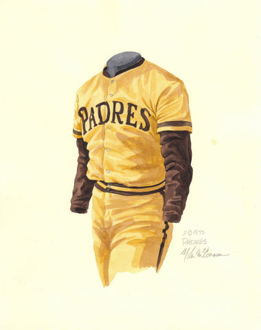 San Diego Padres 1972 - Heritage Sports Art - original watercolor artwork - 1