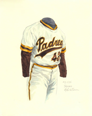 San Diego Padres 1975 - Heritage Sports Art - original watercolor artwork - 1