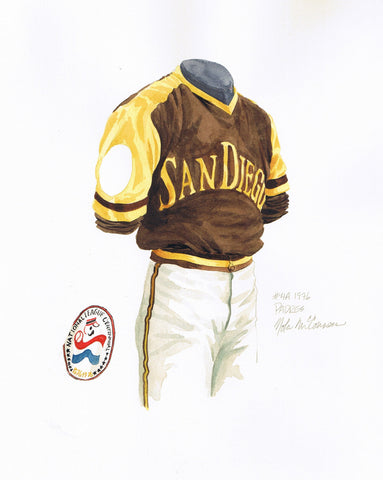 San Diego Padres 1976 - Heritage Sports Art - original watercolor artwork - 1