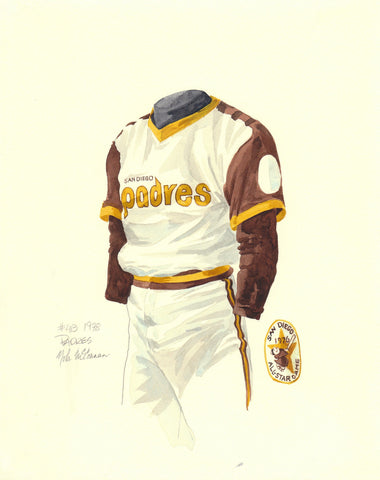 San Diego Padres 1978 - Heritage Sports Art - original watercolor artwork - 1