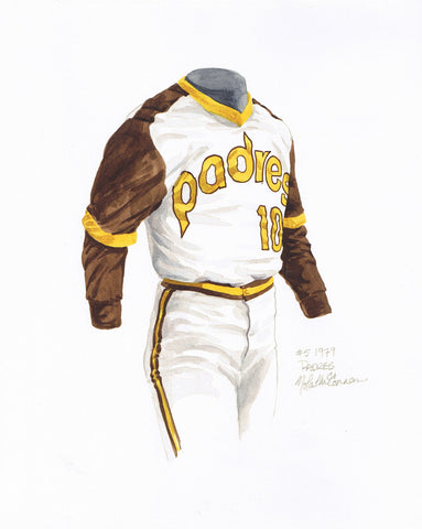 San Diego Padres 1979 - Heritage Sports Art - original watercolor artwork - 1