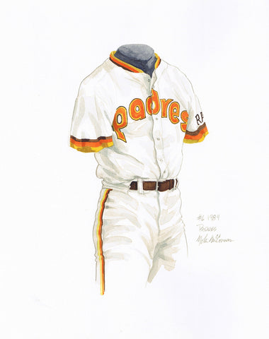 San Diego Padres 1984 - Heritage Sports Art - original watercolor artwork - 1