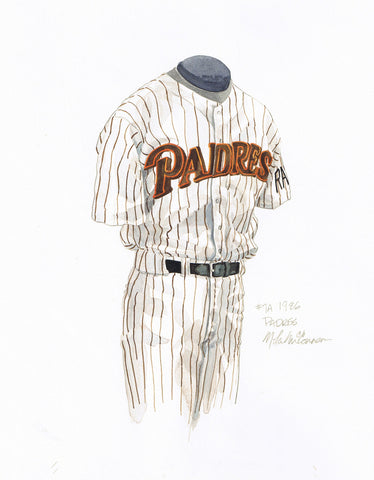 San Diego Padres 1986 - Heritage Sports Art - original watercolor artwork - 1