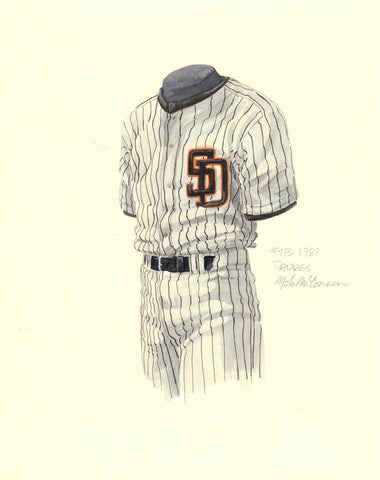 San Diego Padres 1989 - Heritage Sports Art - original watercolor artwork - 1