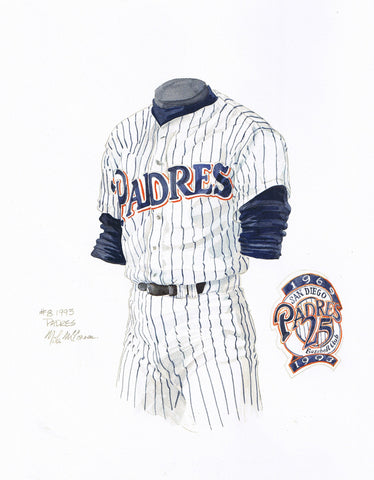 San Diego Padres 1993 - Heritage Sports Art - original watercolor artwork - 1