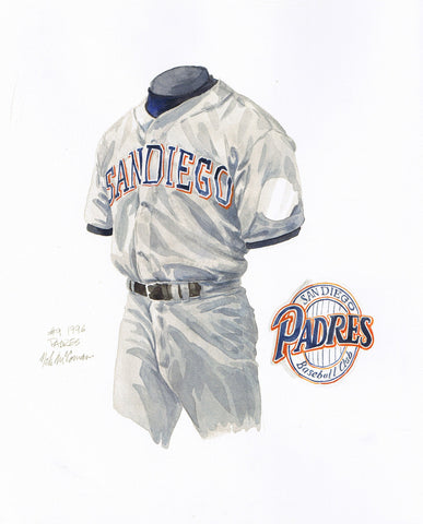 San Diego Padres 1996 - Heritage Sports Art - original watercolor artwork - 1