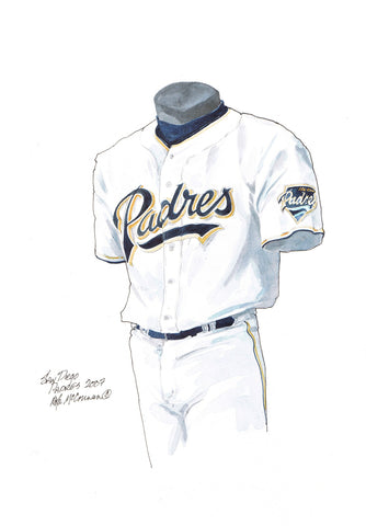 San Diego Padres 2007 - Heritage Sports Art - original watercolor artwork - 1