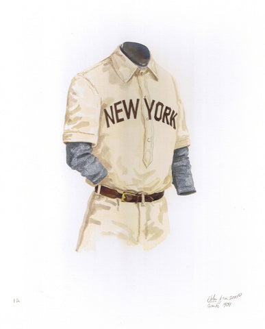 San Francisco Giants 1904 - Heritage Sports Art - original watercolor artwork - 1