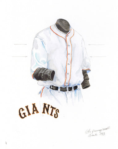 San Francisco Giants 1933 - Heritage Sports Art - original watercolor artwork - 1