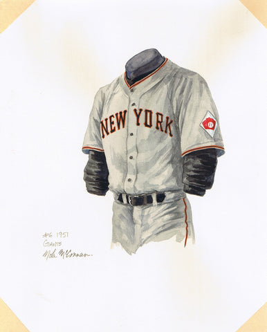 San Francisco Giants 1951 - Heritage Sports Art - original watercolor artwork - 1