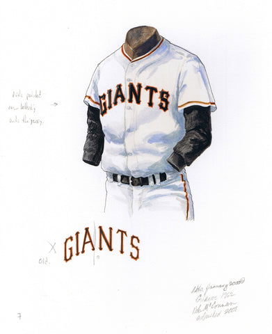 San Francisco Giants 1962 - Heritage Sports Art - original watercolor artwork - 1