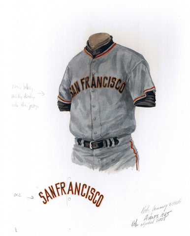 San Francisco Giants 1965 - Heritage Sports Art - original watercolor artwork - 1