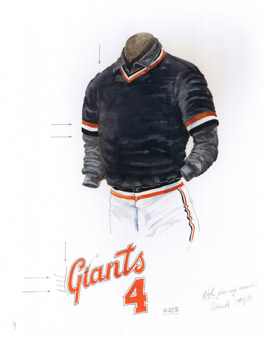 San Francisco Giants 1978 - Heritage Sports Art - original watercolor artwork - 1