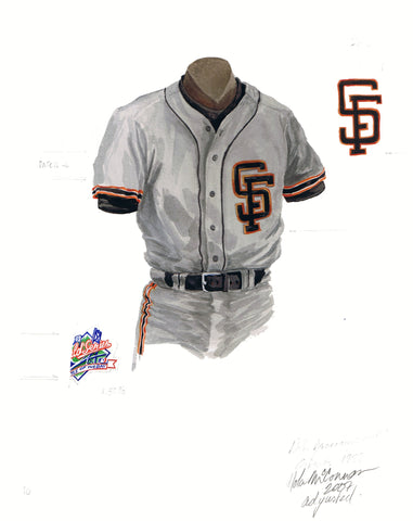 San Francisco Giants 1989 - Heritage Sports Art - original watercolor artwork - 1