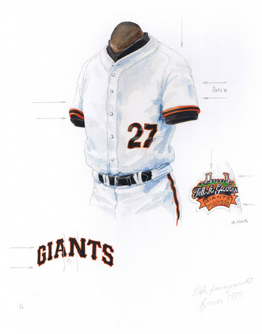 San Francisco Giants 1999 - Heritage Sports Art - original watercolor artwork - 1
