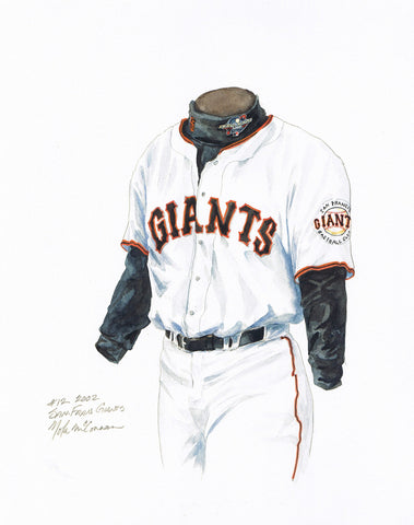 San Francisco Giants 2002 - Heritage Sports Art - original watercolor artwork - 1