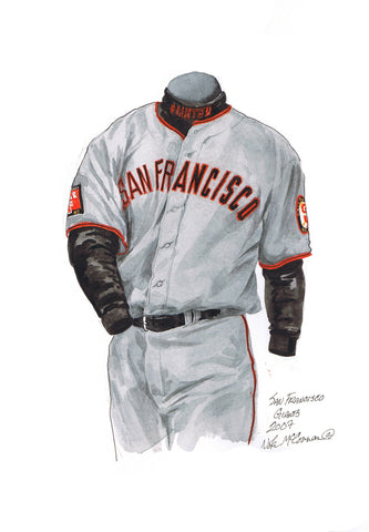 San Francisco Giants 2007 - Heritage Sports Art - original watercolor artwork - 1