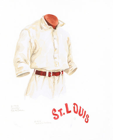 St. Louis Cardinals 1903 - Heritage Sports Art - original watercolor artwork - 1