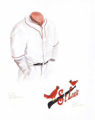 St. Louis Cardinals 1931 - Heritage Sports Art - original watercolor artwork - 1