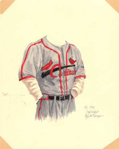 St. Louis Cardinals 1942 - Heritage Sports Art - original watercolor artwork - 1