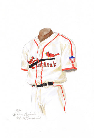 St. Louis Cardinals 1944 - Heritage Sports Art - original watercolor artwork - 1