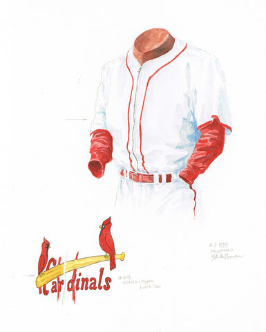 St. Louis Cardinals 1955 - Heritage Sports Art - original watercolor artwork - 1