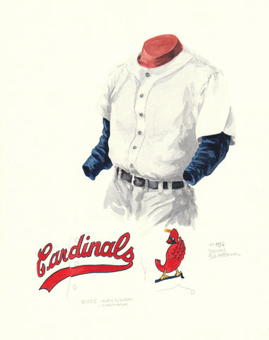 St. Louis Cardinals 1956 - Heritage Sports Art - original watercolor artwork - 1